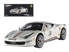 ANAA-X5487-Ferrari 458 Italia Challenge White #3 Elite Edition 1/18 by Hotwheel