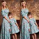 Mother and Daughter Casual Boho Stripe Maxi Dress Mom & Kid Matching Set Outfits