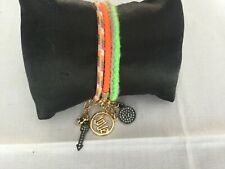 Juicy Couture New & Genuine Set of Three Fabric Friendship Bracelets With Charms