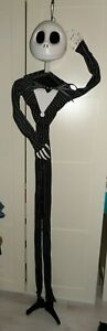 Disney Nightmare Before Christmas 6ft Hanging Jack Skellington Posable arms NEW