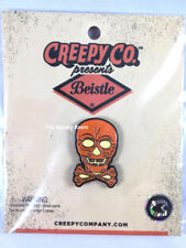 Beistle LANTERN SKULL ~ Halloween ENAMEL metal PIN ~ Creepy Co