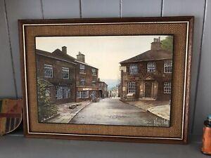 Vintage Kevin Platt Framed Print - Main Street Haworth