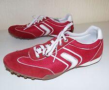 Geox Rojo/Blanco ante y lona con cordones Zapatos Para Correr Zapatillas Talla 8.5/41 para hombres