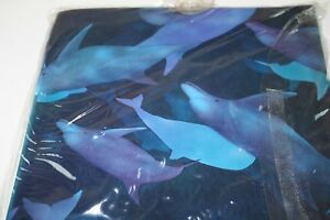 Creative Bath Products - Vinyl Dolphins Shower Curtain - New in package - USA MD