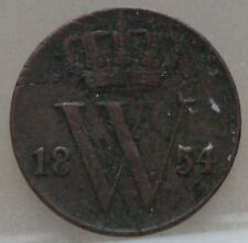Nederland - The Netherlands : halve cent 1854 - 1/2 cent 1854 Willem 3. KM# 90.