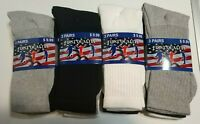 New First Quality  Athletic Men's Socks Size 10-13 Multicolor Sport work Socks