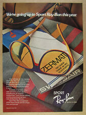 1979 Ray-Ban Sport Sunglasses Ambermatic Lens vintage print Ad