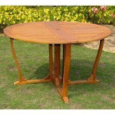 "International Caravan Royal Tahiti Outdoor 51"" Wooden Gate Leg Patio Table"