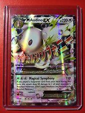 Pokemon card - M Audino EX XY Fates Collide 85/124 Mega Ultra Rare Holo B&W Go