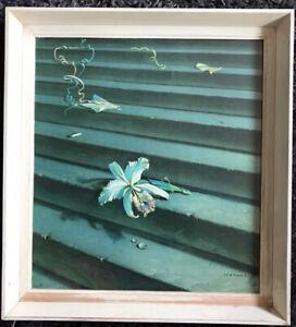 VLADIMIR TRETCHIKOFF The Lost Orchid. Original Edinburgh framed print label