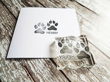 Custom paw print rubber stamp NEW 2 inch
