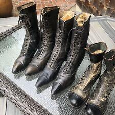 3 Victorian Ladies Shoes Godman Original Boots Vintage