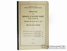 "Nomenclatura DelArmamento De Repeticion ""Mauser"" Modelo Argentino 1891 (Reprint)"