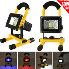 60W Portable Outdoor 30LED Floodlight Rechargeable IP67 Work Light USB Charge