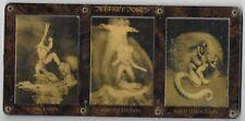 Jeffrey Jones Series 1 Limited Edition Gold Hologram Set of 3 in Acrylic Holder