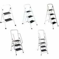 More details for step ladder 2 3 4 folding grip non slip tread mat handrail multipurpose home diy