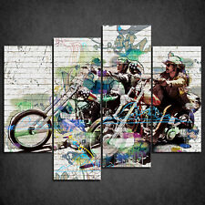 THE EASY RIDER ICONIC FILM CASCADE CANVAS PRINT WALL ART PICTURE READY HANG