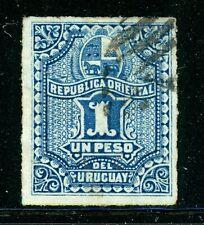URUGUAY Used Selections: Scott #43A 1P Blue (1879) CV$22+