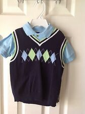 Boys Size 24 Months Sweater Shirt Shorts Set