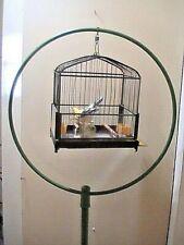 Antique Victorian metal stand Art Deco Canary Parakeet brass Cage ceramic bird