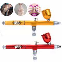 0.3mm Dual Action Gravity Feed Spray Airbrush Gun Nail Art Paint Tattoo Tool -*
