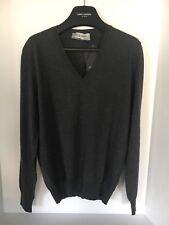 Yves Saint Laurent Cardigan grey Wool Lightweight Slim Fit NWT