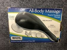 Wahl All Body Therapeutic 2 Speed Massager 4 Physical Therapy Attachments 4120