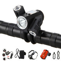 12000LM 3x XM-L T6 Zoomable LED Front Bicycle light Bike Lamp Headlight 6400mAh