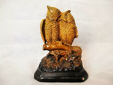 Antique English Martin Brothers style Figurine of Owls year 1871
