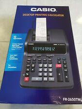 Casio Fr-2650Tm 2-Color Professional Desktop Printing Calculator Adding Machine