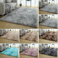 Shaggy Fluffy Rugs Anti-Skid Area Dining Room Carpet Home Bedroom Rug Floor Mat