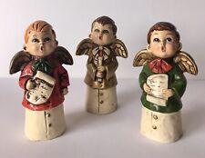Vintage MCM Set 3 Choir Boys Angels Hand Painted Ceramic Figurines STAR Japan