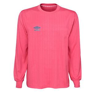 Umbro Men's Long Sleeve Soccer Jersey Shirt, Pink
