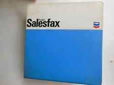 CHEVRON Product Sales Fax FOLDER 1980's - Advertisement Oil & Gas COLLECT
