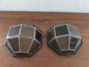 Pair Of Bracket Vintage Style Stained Glass