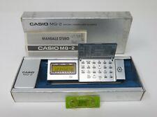 Casio MQ-2 micro computer quartz con box very raree vintage calculator and time