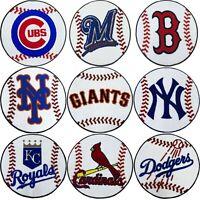 MLB Logo Round Accent Rug - Baseball Shaped Accent Floor Mat Area Carpet Decor