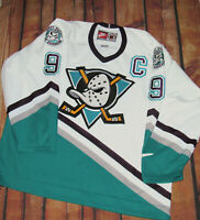 100% Authentic Nike Anaheim Mighty Ducks Paul Kariya Home Jersey SZ 56