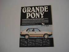 advertising Pubblicità 1984 HYUNDAI PONY