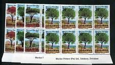 ZIMBABWE, 1981, NATIONAL TREE DAY, SG606-09, IMPRINT