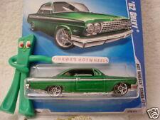 2008/2009 i Hot Wheels 1962 '62 CHEVY #76 ☆ variant met GREEN ☆ Stars