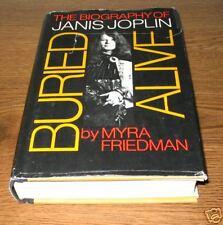 BURIED ALIVE Bio JANIS JOPLIN Friedman 3rd Prt 1st ED