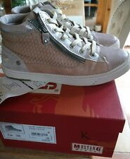 Mustang rose gold trainer shoes size 38