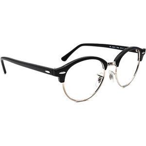 Ray-Ban Eyeglasses RB 4246-V 2000 Black/Silver Round Browline Frame 49[]19 140