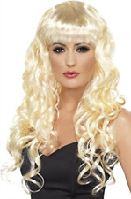Siren Wig, Blonde, Long, Curly with Fringe (US IMPORT) COST-ACC NEW