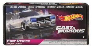 2020 Hot Wheels Fast & Furious Premium Fast Rewind E Box Set of 5 Cars GRB02
