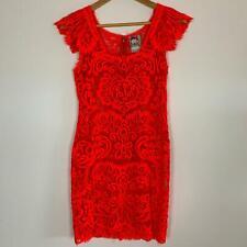 Yoana Baraschi Women's Fluro Orange Silk Dress S A9-10