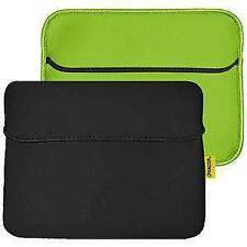 AMZER Black/Leaf Green 10.6 inch Reversible Neoprene Horizontal Sleeve w/ Pocket