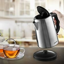 Electric Tea Kettle Cordless Stainless Steel Hot Water Pot Warmer Heater Boiler