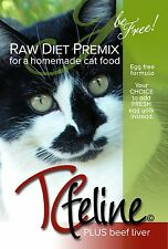 TCfeline RAW Cat Food Premix for Homemade, Natural, Grain Free Diet - Beef Reg